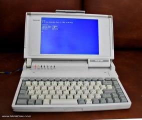 Toshiba T1000SE, зареден ДОС